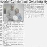 "Article in ""Welsh Farmer"""